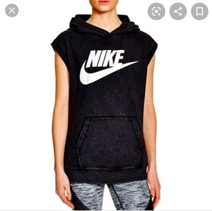 Nike sleeveless classic logo hoodie
